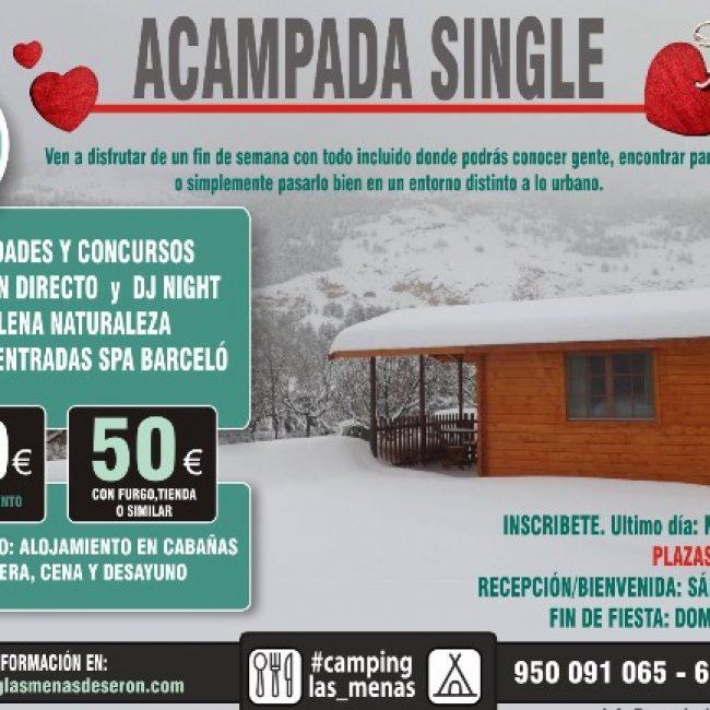 Acampada Single Especial San Valentin en Camping Las Menas