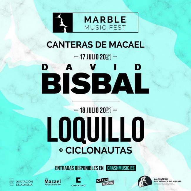 David Bisbal en el Marble Music Fest Canteras de Macael 17 julio