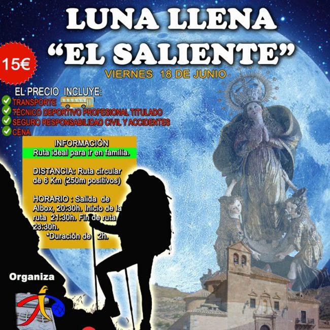 Ruta Nocturna Luna Llena «El Saliente»