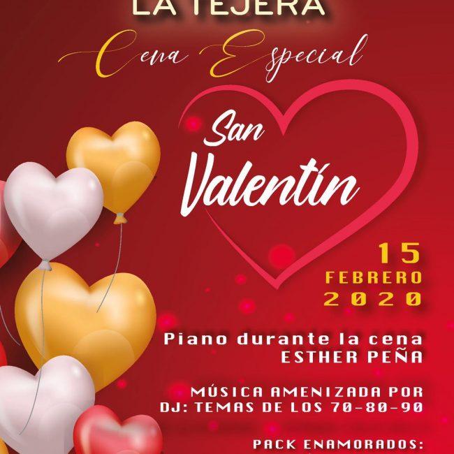 Cena San Valentin Jardines La Tejera