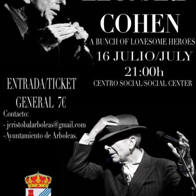 Concierto Tributo a Leonard Cohen en Arboleas el 16 julio