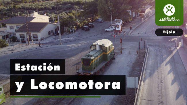 Railway Station and Old Locomotive