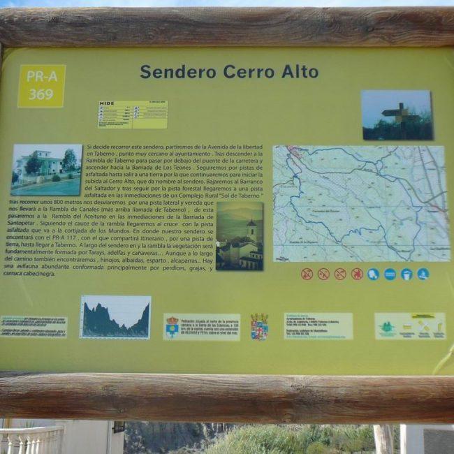 Senderismo Taberno Cerro Alto