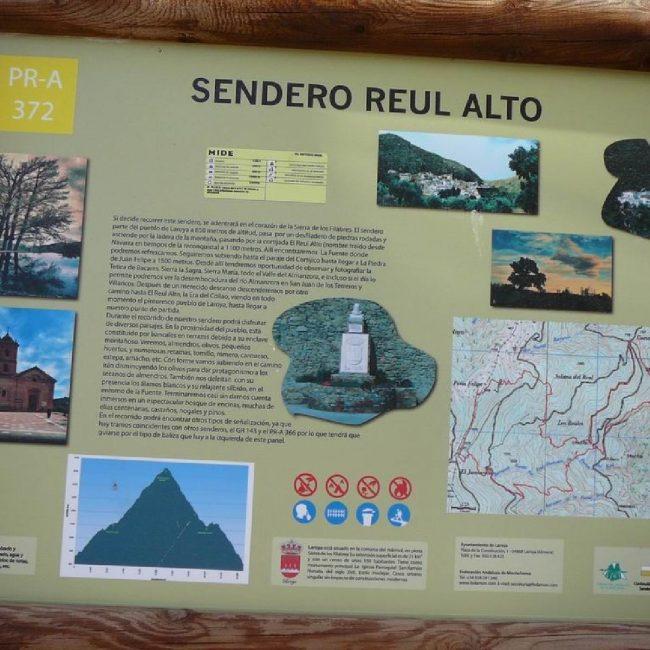 Senderismo Laroya Reul Alto PR-A 372